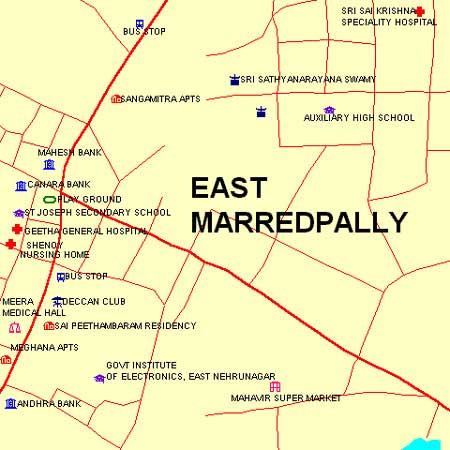 Delhi Public (East Marredpally) - Maps and Directions ... on