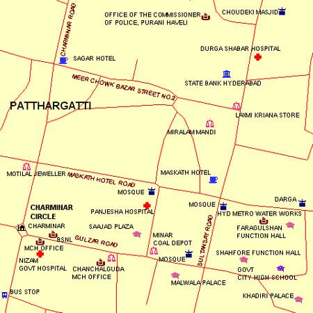 Charminar (Charminar) - Maps and Directions - fullhyd.com on traffic directions, travel directions, maps directions, bing directions,